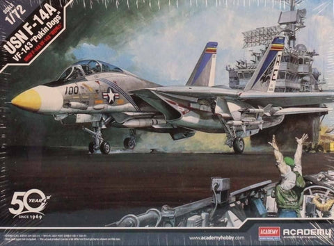 Academy 1:72 USN F-14A VF-143 Pukin Dogs Plastic Model Kit #12563 N/A Academy