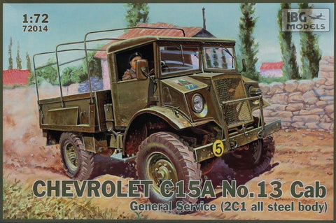 IBG 1:72 Chevrolet C15A No.13 Cab General Service Plastic Model Kit #72014 N/A IBG