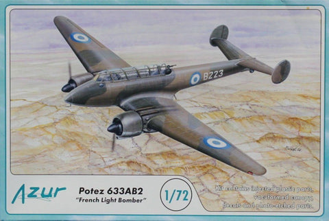 Azur 1:72 Potez 633AB2 French Light Bomber Plastic Model Kit #A85U N/A Azur_Frrom
