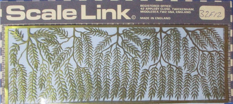 Scale Link 9mm Willow Leaves PE Diorama Accessory #32F12U N/A Scale_Link