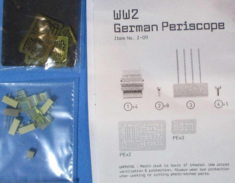 1120 Production 1:35 WWII German Periscope Resin PE Detail Set #Z-09 N/A Resin_PE