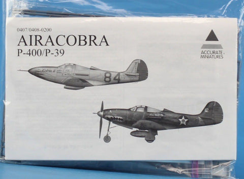 Accurate Miniatures 1:48 P-400 / P-39 Airacobra Kit #0407/0408-0200XU N/A Accurate_Miniatures