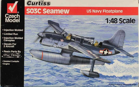 Czech Model 1:48 Curtiss SO3C Seamew US Navy Floatplane Plastic Model Kit #4817U N/A Czech_Model