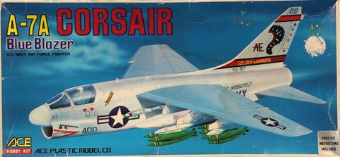 Ace Hobby 1:72 A-7A A-7 A Corsair Blue Blozer Model Kit #1200U N/A Ace_Hobby