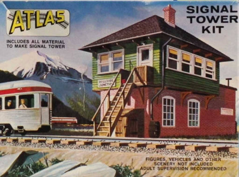 Atlas 1:87 HO Gauge Signal Tower Plastic Diorama Kit #704U N/A Atlas