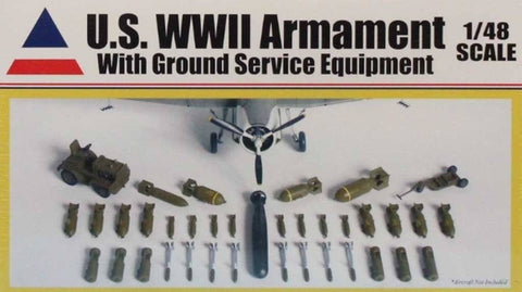 Accurate Miniatures 1:48 US WWII Armament w Ground Service Equipment Kit #9900 N/A Accurate_Miniatures