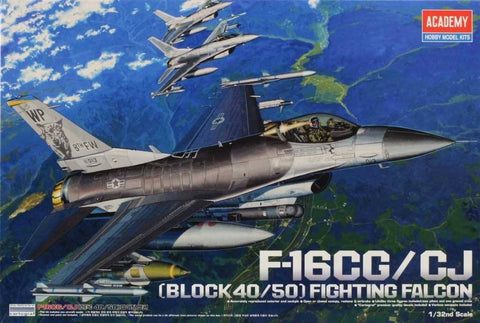 Academy 1:32 F-16 CG/ CJ Block 40/ 50 Fighting Falcon Plastic Model Kit #12101 N/A Academy