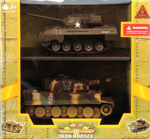 21st Century Toys 1:32 Tiger I Ausf.E & M18 Hellcat Iron Horses Built #13222 N/A 21st_Century_Toys