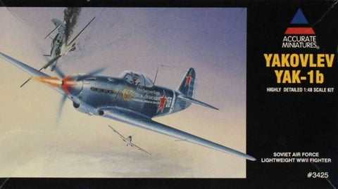 Accurate Miniatures 1:48 Yakovlev Yak-1B Soviet Air Force Lightweight Kit #3425U N/A Accurate_Miniatures
