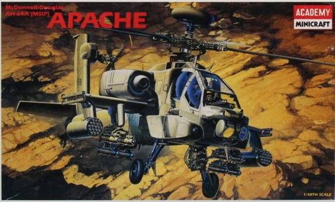 Academy Minicraft 1:48 AH-64 A MSIP Apache Helicopter Plastic Model Kit #2115 N/A Academy_Minicraft