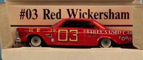 Action Racing Collectables 1:64 #03 Red Wickersham 1965 Ford Fastback #6501067 N/A Action_Racing_Collectables