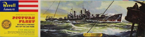 Revell 1:481 USS Helena Picture Fleet w/ Battle Portrait Plastic Kit #0370U N/A Revell