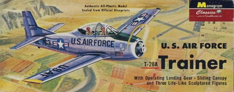 Monogram 1:48 US Air Force T-28A Trainer Plastic Aircraft Model Kit #85-0028U N/A Monogram