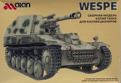 Alan 1:35 German Wespe Self Propelled Gun Plastic Model Kit #005U N/A Alan