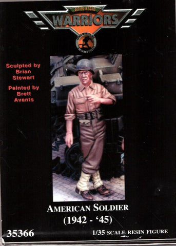Warriors 1:35 American Soldier 1942-45 Resin Figure Kit #35366 N/A Warriors