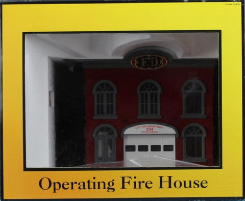 MTH O Gauge Railtown Buildings Operating Fire House #30-9102 N/A MTH