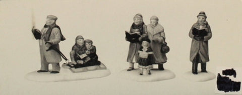 Department 56 Caroling Thru The City 3 Pcs Heritage Village Collection #5548-4 N/A Department_56