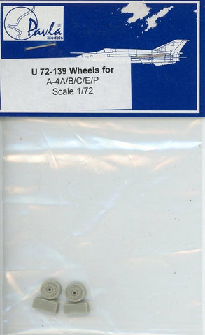 Pavla Models 1:72 Wheels for A-4 A/B/C/E/P Resin Detail Set #U72-139 N/A Pavla_Models