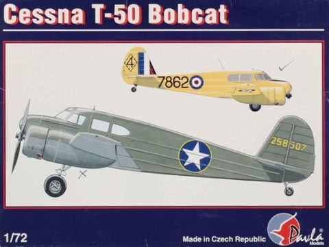 Pavla Models 1:72 Cessna T-50 Bobcat Plastic Aircraft Model Kit #72022U N/A Pavla_Models