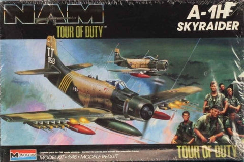 Monogram 1:48 A-1 H A-1H Skyraider Nam Tour of Duty Plastic Model Kit #5454U1 N/A Monogram