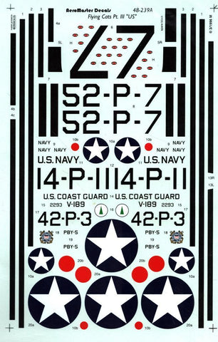 Aero Master Decals 1:48 Flying Cats PBY-5 Pt.III US Decal Sheet #48-239 N/A Aero_Master_Decals