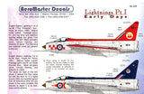 Aero Master Decals 1:48 Lightning Pt.I Early Days Decal Sheet #48-369 N/A Aero_Master_Decals
