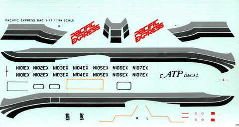 ATP Decal 1:144 Pacific Express BAC 1-11 Decal Sheet #AD5026 N/A ATP_Decal