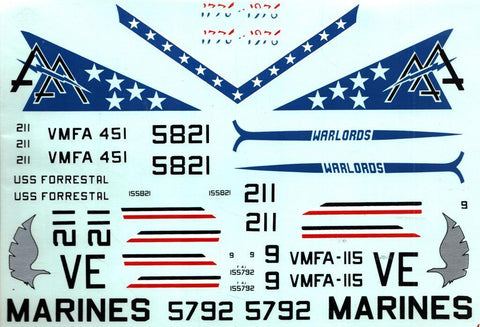 Fowler Aviation Decal 1:48 F-4J Phantom II Decal Sheet #FD4807 N/A Fowler_Aviation_Decal