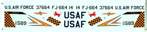 Fowler Aviation Decal 1:48 F-4C 12th TFW 555th TFS Southeast Asia 1964 Monogram N/A Fowler_Aviation_Decal
