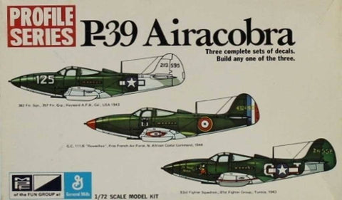 MPC 1:72 P-39 Airacobra Profile Series Plastic Aircraft Model Kit #2-1117-100 N/A MPC