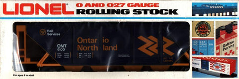 Lionel O Gauge O27 Ontario Northland ONT #6100 Rail Covered Hopper Car #6-6100U N/A Lionel
