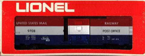 Lionel O Gauge United States Mail Railway #9708 Post Office Boxcar #6-9708U N/A Lionel