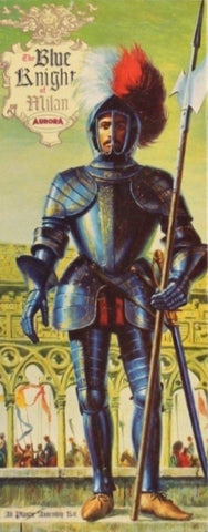Aurora 1:8 The Blue Knight of Milan Plastic Figure Kit #472U N/A Aurora