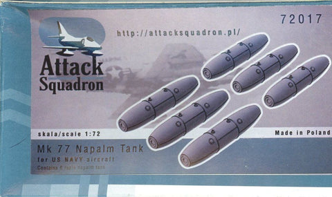Attack Squadron 1:72 Mk.77 Napalm Tank for US Navy Aircraft Set #72017 N/A Attack_Squadron