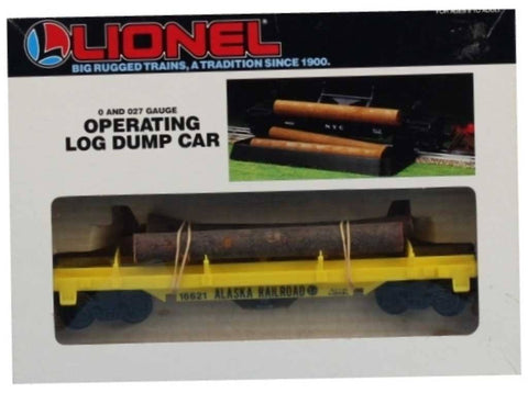 Lionel O Gauge O27 Alaska Railroad #16621 w/ Log Dump Car #6-16621U