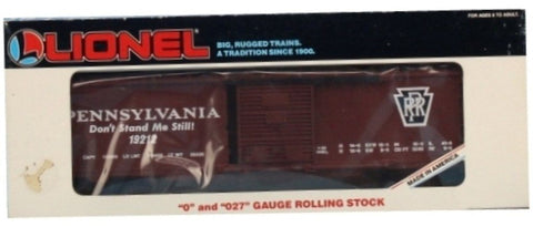 Lionel O Gauge O27 Pennsylvania PRR #19212 Don't Stand Me Still Boxcar Box Car #6-19212U1