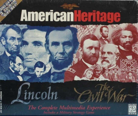 ESRB American Heritage Lincoln The Civil War 3 CD-ROM Gift Set PC Windows N/A ESRB