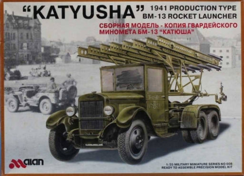 Alan 1:35 Katyusha 1941 Production Type BM-13 Rocket Launcher Plastic Kit #008U N/A Alan