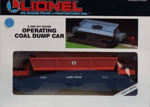 Lionel O Gauge O27 illinois Central #16600 I.C.G ICG Log Coal Dump Car #6-16600U N/A Lionel