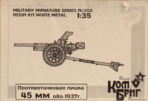Combrig 1:35 45mm Russian Anti-Tank Gun 1937 Resin Metal Model Kit #302U N/A Combrig