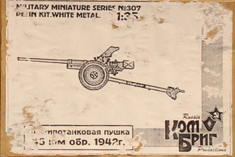 Combrig 1:35 45mm Russian Anti-Tank Gun 1942 Resin Metal Model Kit #307U N/A Combrig