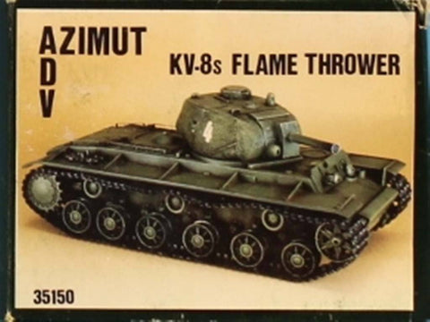 ADV Azimut 1:35 KV-8s Flame Thrower Resin Model Kit #35150 N/A ADV_Azimut