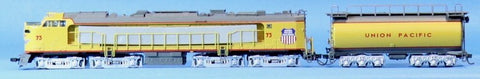 MTH HO Gauge Union Pacific #73 Veranda Turbine & Tender Set Engine #80-2055-1U N/A MTH