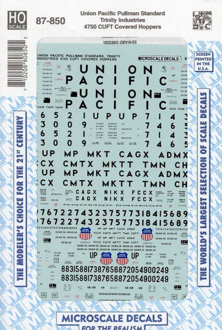 Microscale Decals 1:87 HO Scale Union Pacific Pullman Standard Trinity #87-850 N/A Microscale_Decals