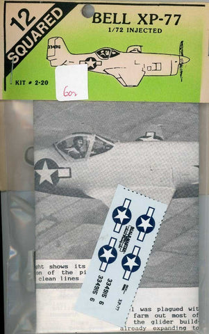 12 Squared 1:72 Bell XP-77 Resin Detail Set #2-20 N/A 12_Squared