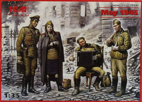 ICM 1:35 Soviet Military Men at Rest May 1945 Plastic Figure Kit #35541U N/A ICM