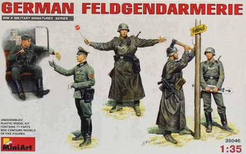 Miniart 1:35 WWII German Feldgendarmerie Plastic Model Kit #35046 N/A Miniart