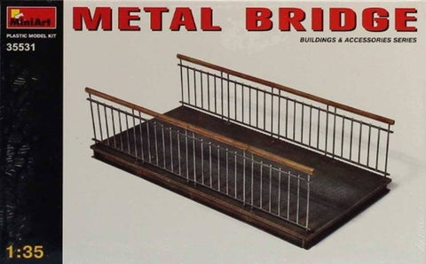 MiniArt 1:35 Metal Bridge Plastic Diorama Accessory #35531 N/A Miniart