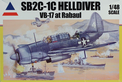 Accurate Miniatures 1:48 SB2C-1C Helldiver VB-17 at Rabaul Plastic Kit #480405U N/A Accurate_Miniatures