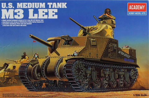 Academy 1:35 US Medium Tank M3 Lee Plastic Hobby Model Kit #13206U N/A Academy